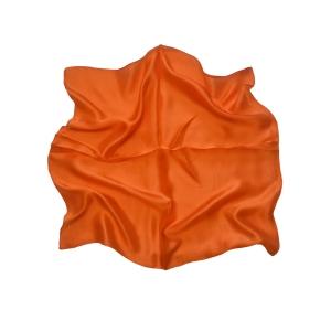 """Женский шелковый платок. Однотонный. (""""красный апельсин"""")"""