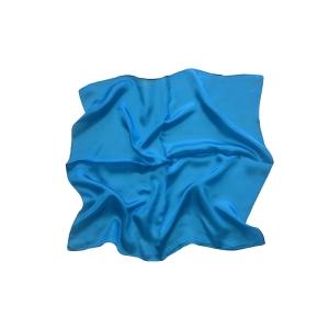 Женский шелковый платок. Однотонный. (аквамарин)