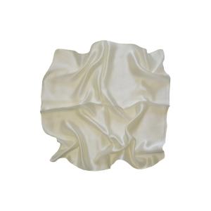 Женский шелковый платок. Однотонный. (сливочный)