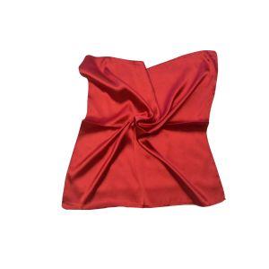 Женский шелковый платок. Однотонный. (красный)