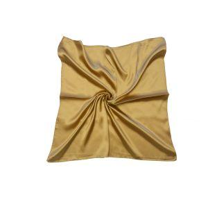 Женский шелковый платок. Однотонный. (золотистый)
