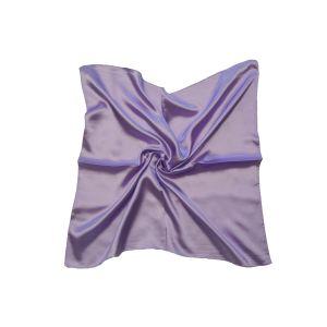 Женский шелковый платок. Однотонный. (нежно-сиреневый)