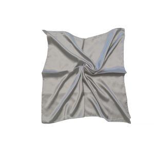Женский шелковый платок. Однотонный. (серебристо-серый)