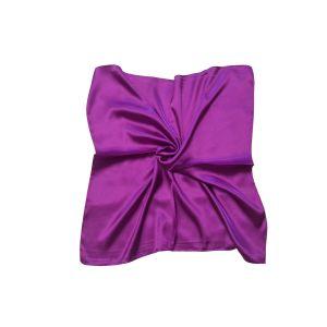 Женский шелковый платок. Однотонный. (фиолетовый)