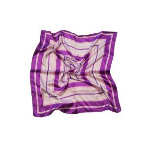 """Женский шейный платок """"Лилово-розово-белые квадраты"""""""