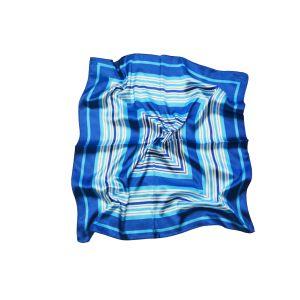 "Женский шейный платок ""Сине-бело-голубые квадраты"""