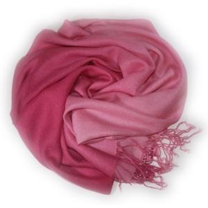 Шарф двухцветный розовый