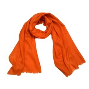 Оптимистичный однотонный шерстяной шарф оранжевого цвета
