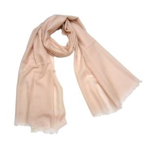 Модный однотонный шерстяной шарф телесного цвета