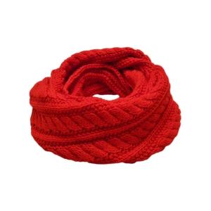 Оригинальный шарф (снуд) яркий красный