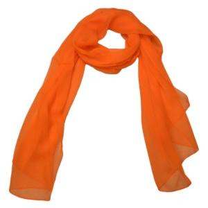 Красивый однотонный женский шарф из натурального шелка цвета спелой малины