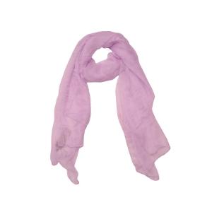 Нежный сиреневый однотонный женский шарф из натурального шелка