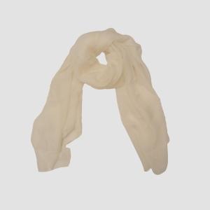 Белый воздушный легкий шарфик из 100% натурального шелка