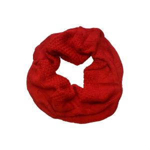 Шарф-труба (снуд) молодежный красного цвета
