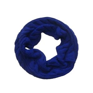 Шарф-хомут (снуд) стильный василькового цвета
