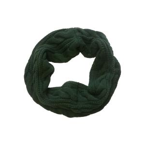 Шарф-хомут (снуд) стильный темно-зеленый