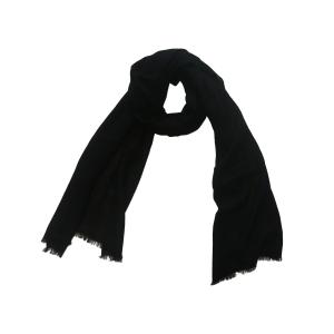 Однотонный черный шерстяной шарф