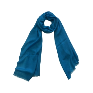 Однотонный шерстяной шарф цвета морской волны