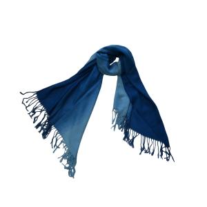 Шарф двухцветный сине-голубой
