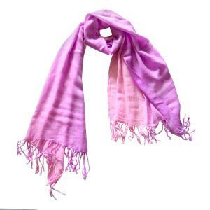 Шарф двухцветный малиново-розовый