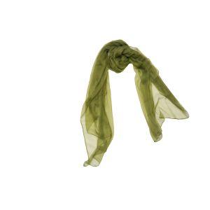 Однотонный шелковый шарф болотного цвета
