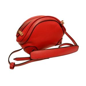 Яркая сумочка-ридикюль красная для стильных особ