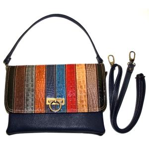 Женская сумка в полоску