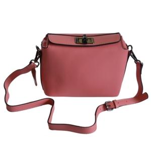 Сумочка-клатч женская розовая (ретро)