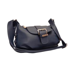 Удобная мягкая сумка через плечо синего цвета