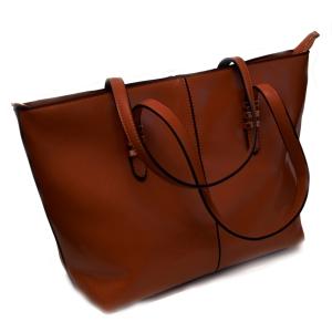 Женская кожаная сумка-трапеция светло-коричневого цвета