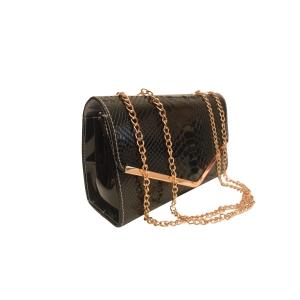 Нарядная сумка-клатч черного цвета