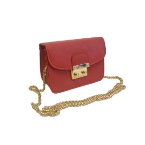 Миниатюрная женская сумка-клатч красного цвета