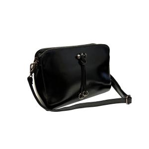 Черная женская сумка (хромовая кожа)