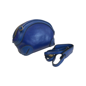 Стильная сумочка-ридикюль синего цвета для модных особ