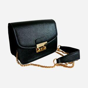 Миниатюрная сумочка-клатч черного цвета