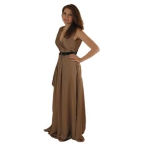 Вечернее платье с V-образным вырезом