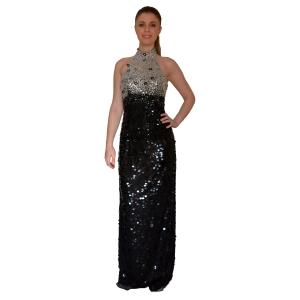 Облегающее платье в пол с открытой спиной