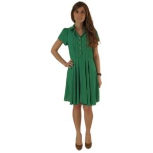Стильное коктейльное  платье зелёного цвета