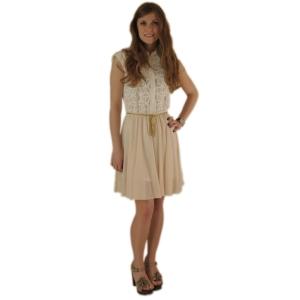 Кружевное платье с шифоновой юбкой