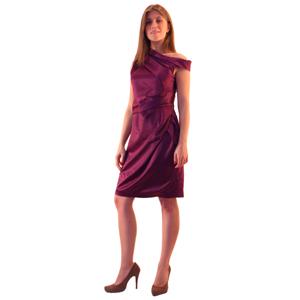 Фиолетовое платье-футляр