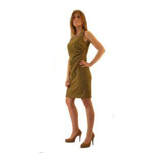 Короткое золотистое платье