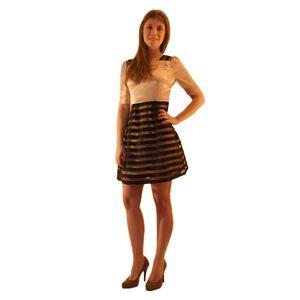 Короткое платье с отрезной талией