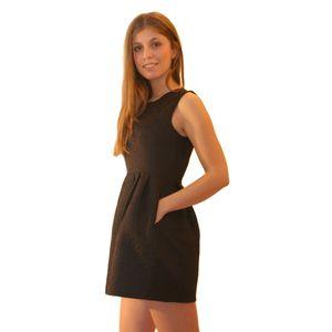 Чёрное платье с отрезной талией