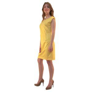 Платье-футляр жёлтое