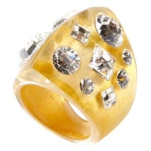 Кольцо черно-золотое TUTTI FRUTTI