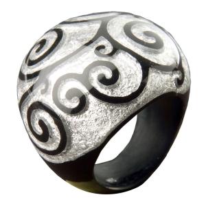"""Кольцо """"SWIRL"""" серебро"""
